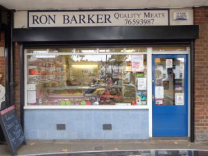 Ron Barker Quality Meats shop front