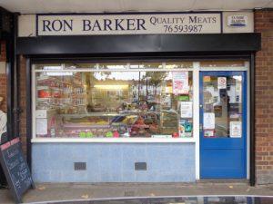 Ron Barker Quality Meats shop front